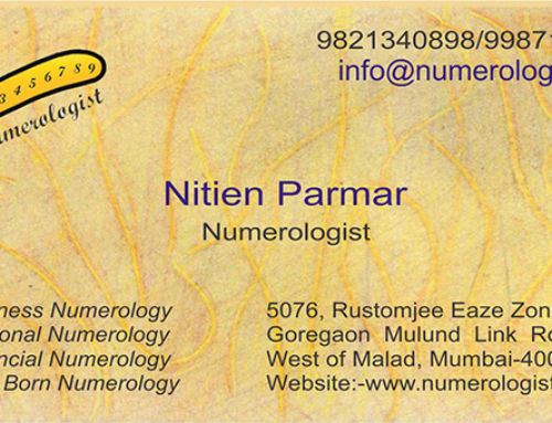 Numerology for Business Card